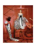 Model Lisa Fonssagrives Premium Giclee Print by Horst P. Horst