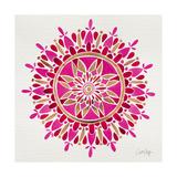 Mandala in Pink and Gold Giclée-Druck von Cat Coquillette