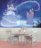 Disney Princess Cinderella Magic XL Chair Rail Prepasted Mural Wallpaper Mural