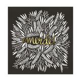 Merde – White on Black Lámina giclée por Cat Coquillette