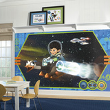 Miles From Tomorrowland XL Chair Rail Prepasted Mural Wallpaper Mural