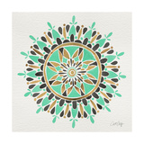 Mandala in Mint and Gold Giclee Print by Cat Coquillette