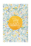 Stay Curious in Yellow and Green Lámina giclée por Cat Coquillette