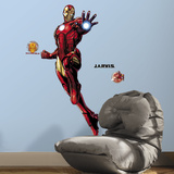 Iron Man Peel And Stick Giant Wall Decals With Glow Wall Decal