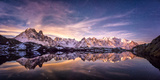 Lac des Cheserys panoramic Photographic Print by Philippe Manguin