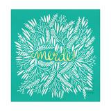 Merde – White on Turquoise Lámina giclée por Cat Coquillette