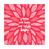 If Mama Aint Happy - Pink – Coquillette Lámina giclée por Cat Coquillette
