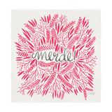 Merde – Pink Lámina giclée por Cat Coquillette