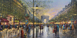 Paris Champs Elysees - Detail Giclee Print by Guy Dessapt
