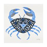 Blue-Crab-Artprint Giclée-tryk af Cat Coquillette