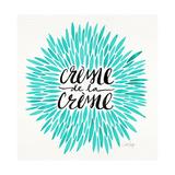 Crème de la Crème in Turquoise Lámina giclée por Cat Coquillette