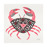Crab in Pink and Grey Giclée-Druck von Cat Coquillette