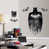 Batman Silhouette Peel And Stick Giant Wall Graphic Wall Decal