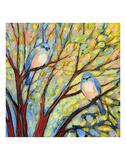Two Bluebirds Posters af Jennifer Lommers