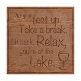 Relax Lake Giclée-Premiumdruck von Lauren Gibbons