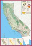 California Laminated Wall Map Posters