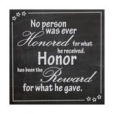 Honor Lámina giclée prémium por Lauren Gibbons
