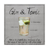 Gin Tonic Metal Print by Lauren Gibbons