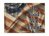 In God We Trust: Wir setzen unser Vertrauen in Gott Giclée-Premiumdruck von Diane Stimson
