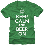 Keep Calm & Beer On T-skjorte