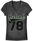 Women's: Ireland '78 V-Neck T-skjorten for damer med V-hals