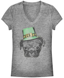 Women's: Irish Puppy V-Neck Dames-T-shirts met V-hals