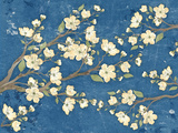 Cherry Blossoms Blue Art by Diane Stimson