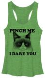Juniors Tank Top: Grumpy Cat- Pinch Me Camisetas de tirantes para mujer