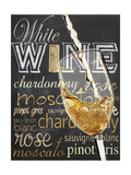 Wine Glass White Premium Giclee Print by Lauren Gibbons