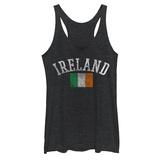 Juniors Tank Top: Distressed Irish Flag Ermeløse toppen for damer