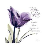 My Love Tulip Stampa giclée premium di Albert Koetsier