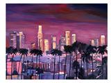 Los Angelese Golden Skyline 3 Affiche par M Bleichner