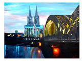 Cologne - Kolner Dom mit Hohenzollernbrucke Affiches par M Bleichner