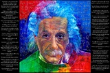 David Glover- As Quoted By Einstein Print by David Glover