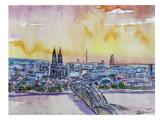 Cologne Deutz Bridge Sunset Poster par M Bleichner