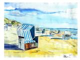 Sylt German Island Beach Posters par M Bleichner