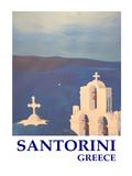 Santorini Greek Island Classical Poster Affiches par M Bleichner