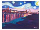 Starry Night In Dresden Posters par M Bleichner