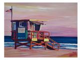 Santa Monica Beach Scene California Giclee Print by M Bleichner