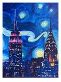 Starry Night In New York Affiche par M Bleichner