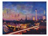 Berlin Skyline Dusk 2 Affiches par M Bleichner