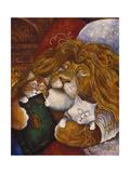 Lion endormi Reproduction procédé giclée par Bill Bell