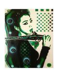 Asia Green Giclee-trykk av  Abstract Graffiti