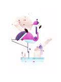 Placido Flamingo Gicléetryck av Antony Squizzato