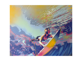 Surfing Giclee-trykk av  Abstract Graffiti