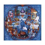 More Blue Room Cats Reproduction procédé giclée par Bill Bell