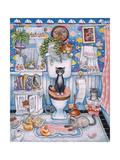 Bathroom Cats Reproduction procédé giclée par Bill Bell