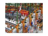 La Gare ferroviaire Reproduction procédé giclée par Bill Bell