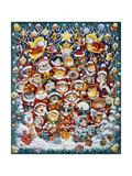 Santa Claws Reproduction procédé giclée par Bill Bell