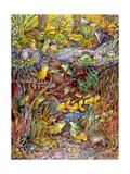 Leap Frog Giclée-tryk af Bill Bell